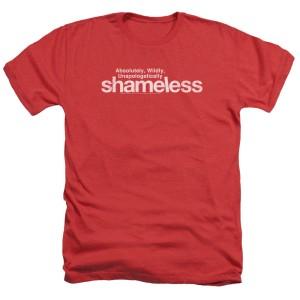 Shameless Logo T-Shirt (Red Heather)