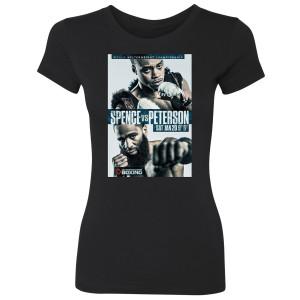 Spence vs. Peterson Graphic Women's Slim Fit T-Shirt (Black)
