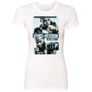 Spence vs. Peterson Graphic Women's Slim Fit T-Shirt (White)