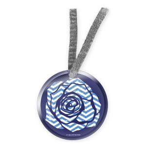 Twin Peaks Blue Rose Ornament