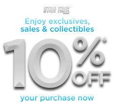 Star Trek - Sign Up and Receive 10% Off Your Purchase Now