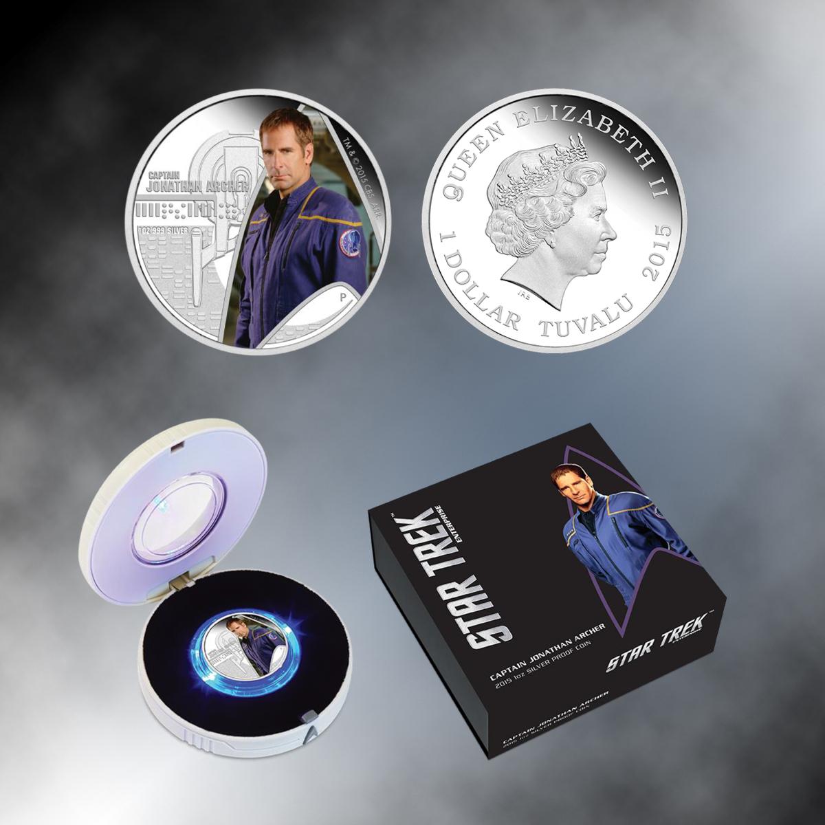 2015 Star Trek Captain Archer Tuva lu Silver Proof