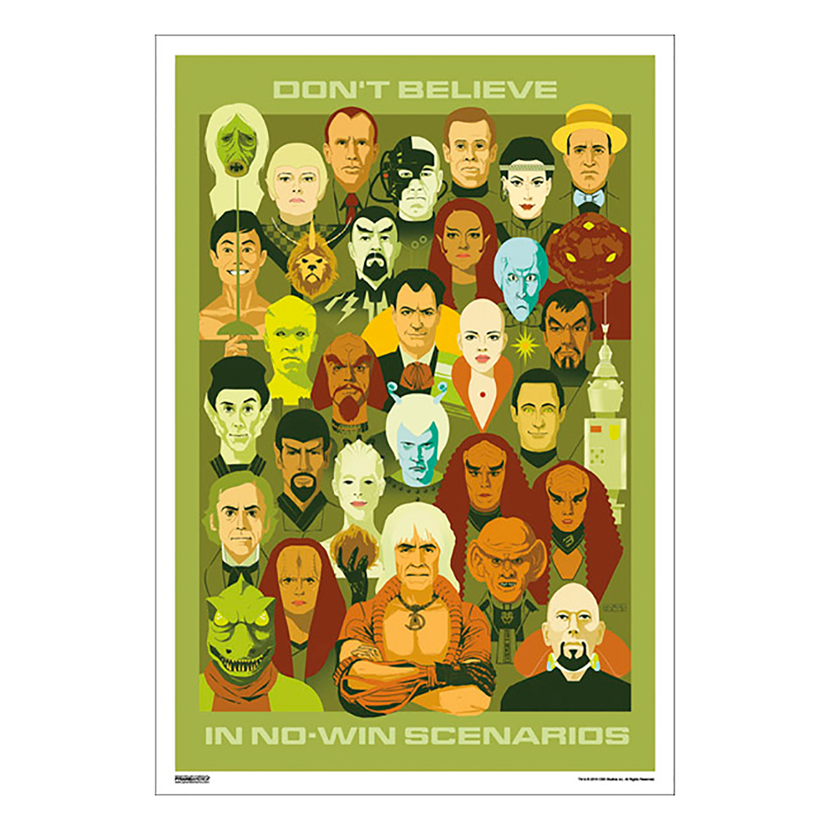Star Trek 50th Art Collection Don't Believe in No-Win Scenarios by Amy Beth Christenson Poster [13 x 9]