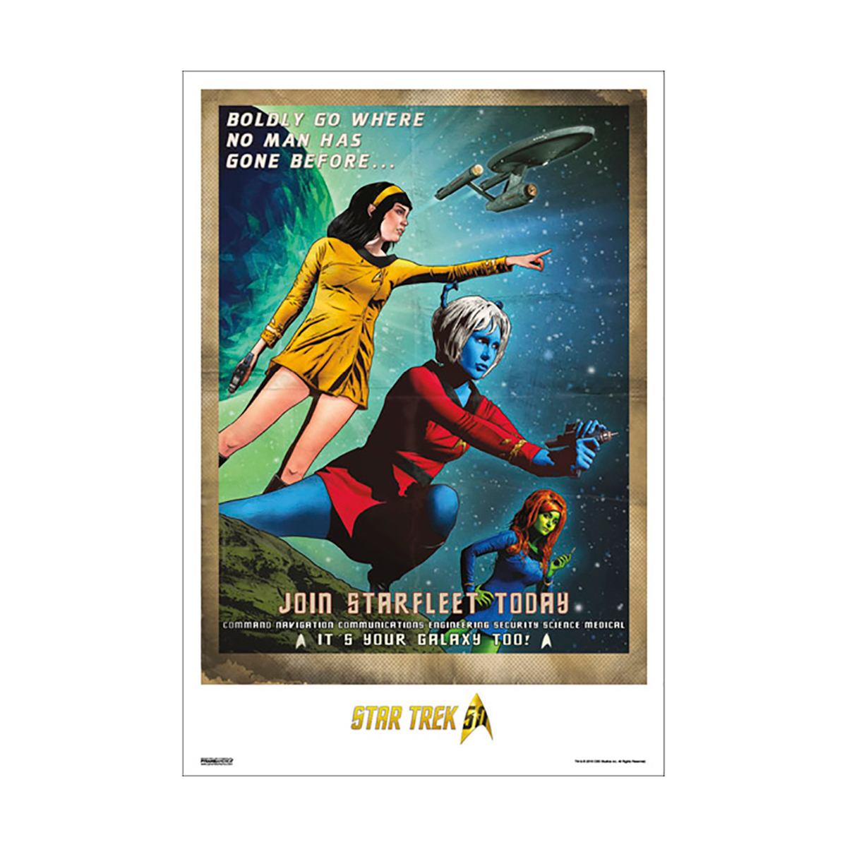 Star Trek 50th Art Collection It's Your Galaxy Too! by Joe Corroney Poster [13 x 9]