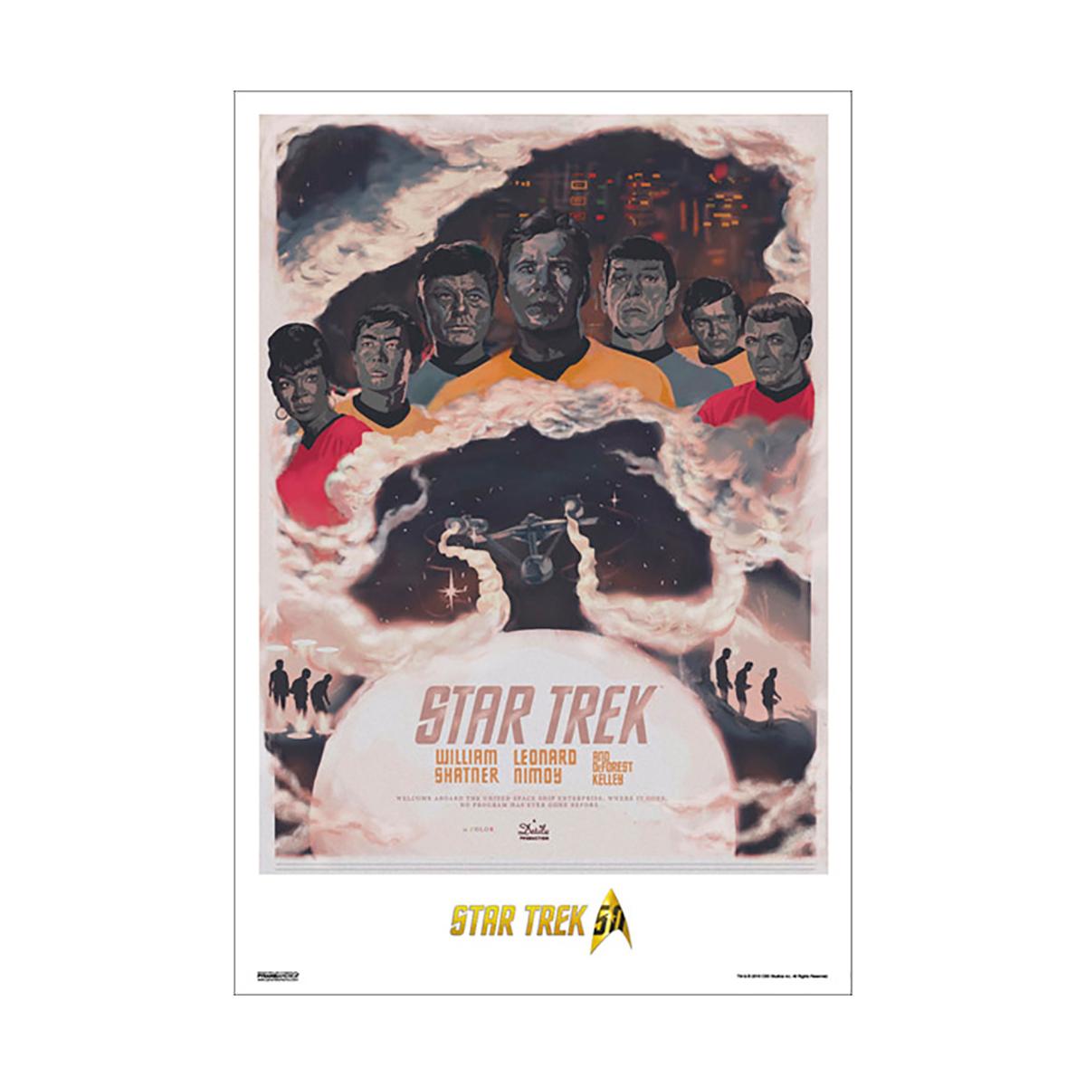Star Trek 50th Art Collection NCC-1701 by Fernando Reza Poster [13 x 9]
