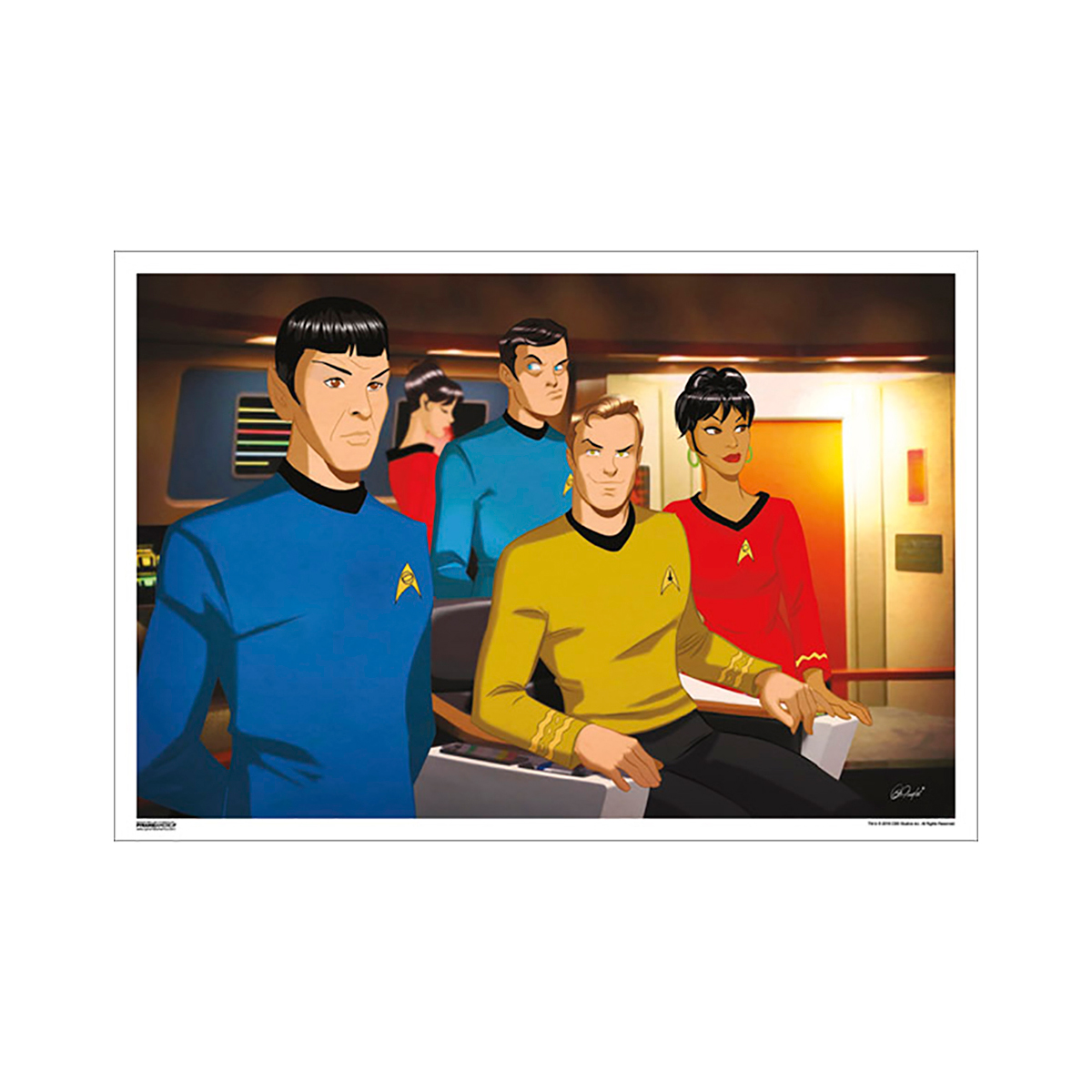 Star Trek 50th Art Collection Logic and Laughs by Des Taylor Poster [13 x 9]