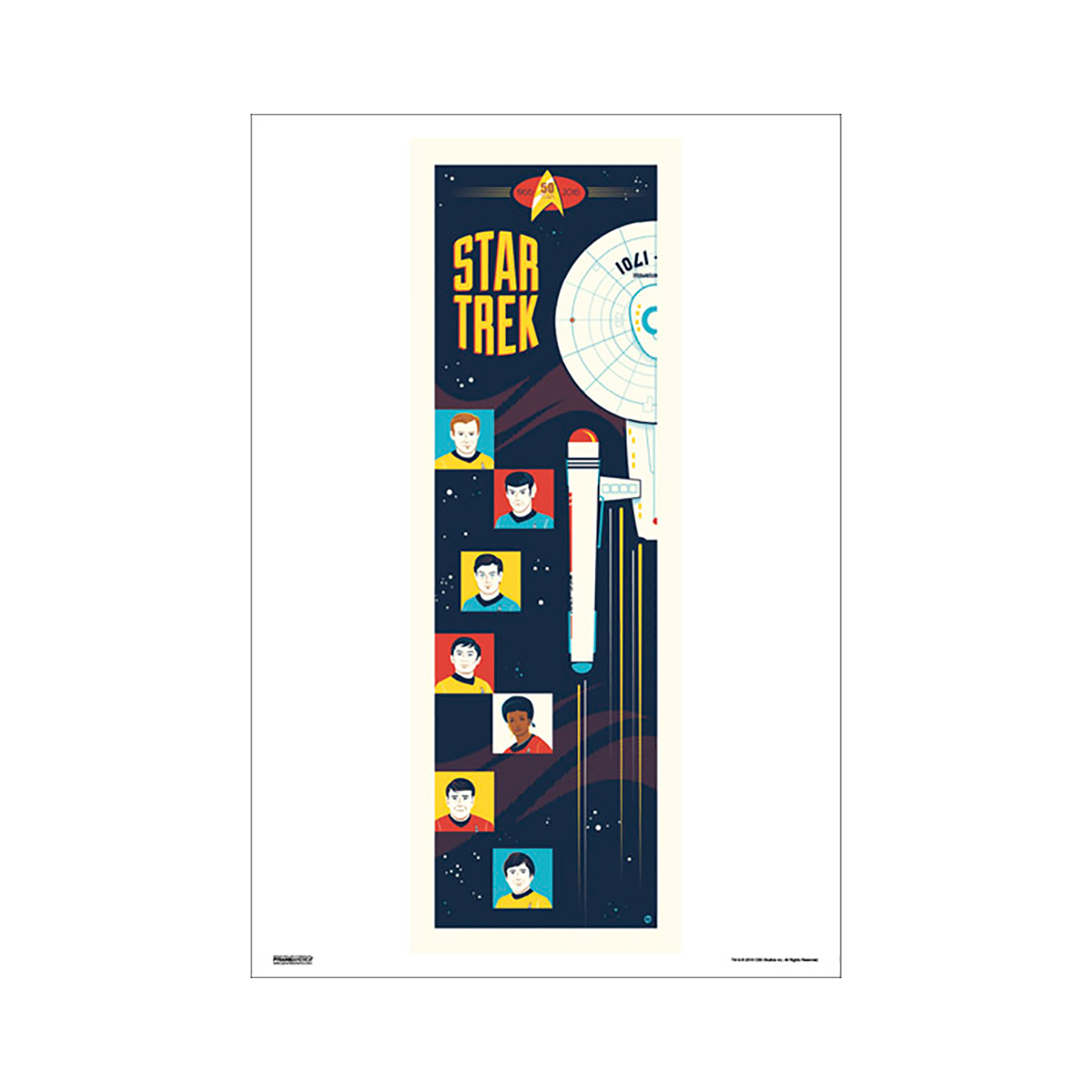 Star Trek 50th Art Collection Strange New Worlds by Dave Perillo Poster [13 x 9]