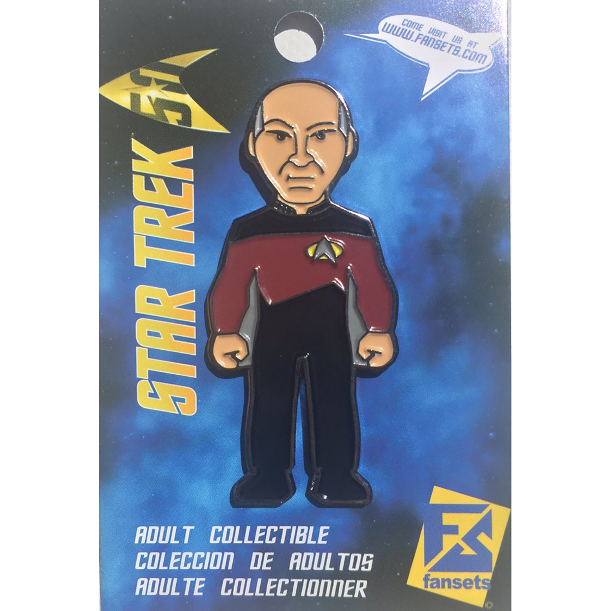 Star Trek The Next Generation Captain Picard  Collector's Pin