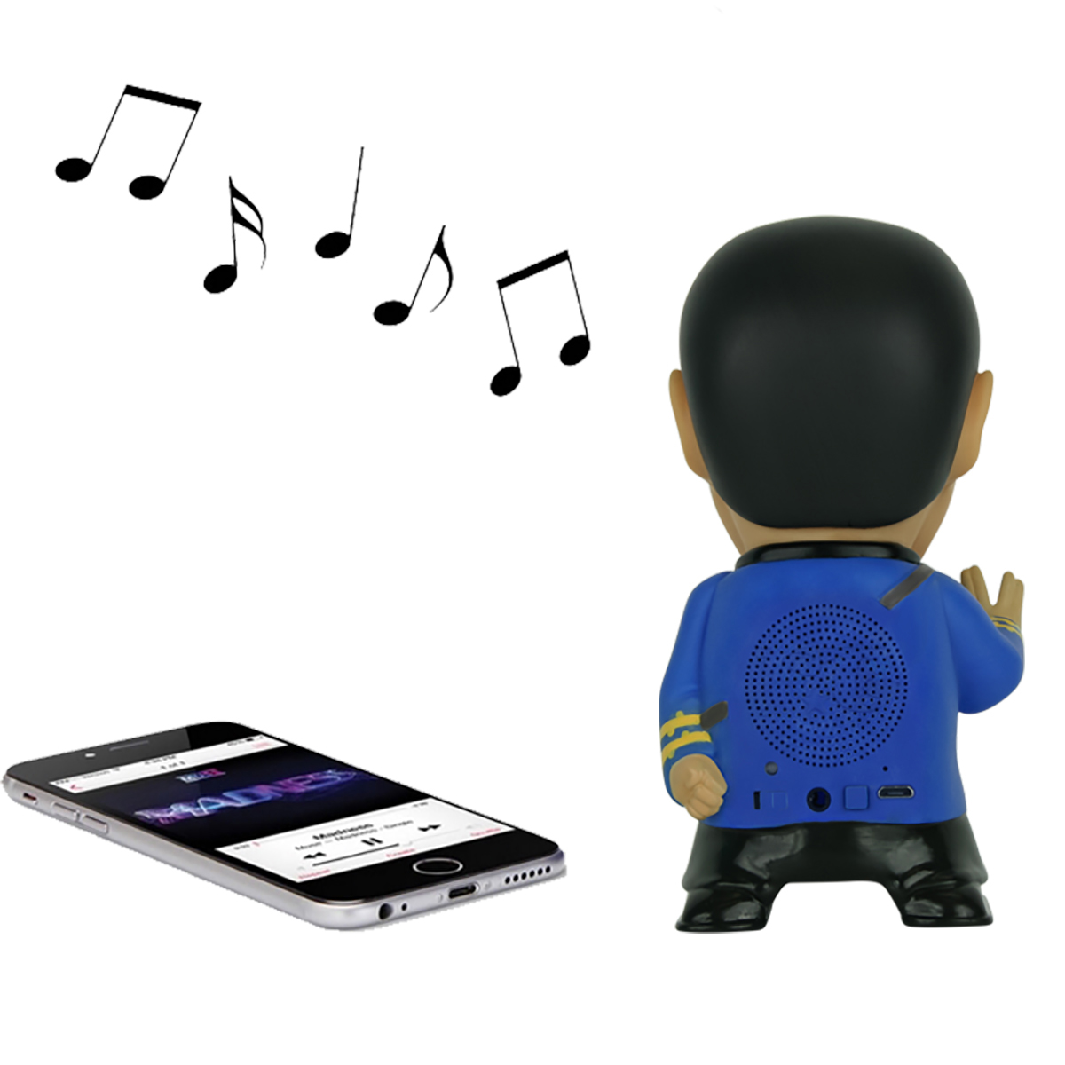 Star Trek Mr. Spock Figure Bluetooth Speaker