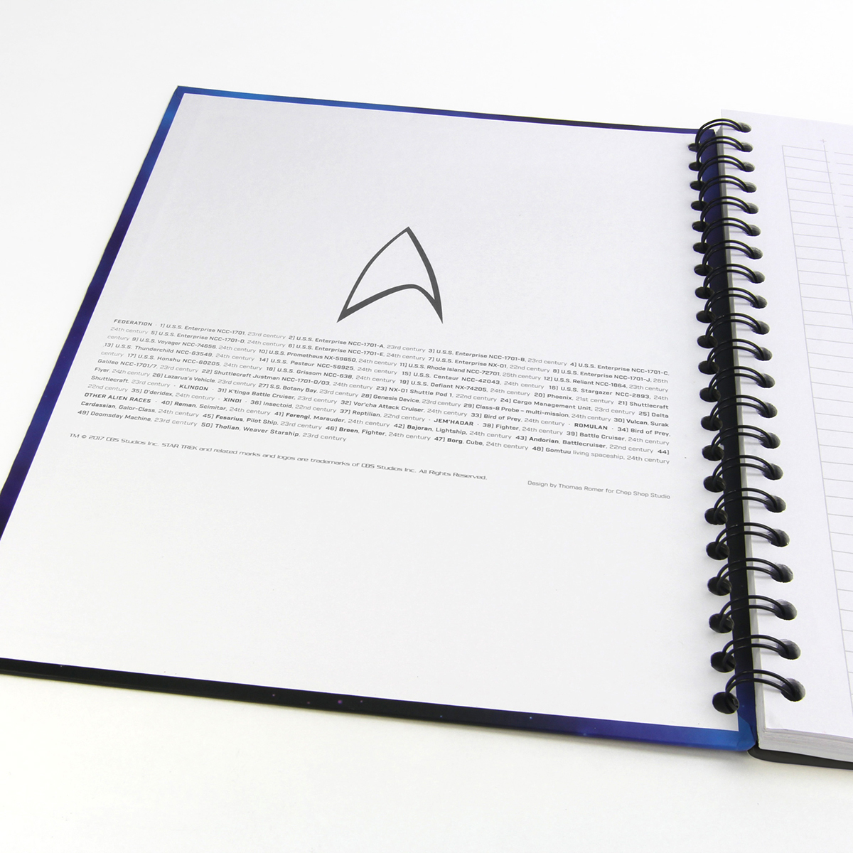Star Trek The Spacecraft of Star Trek Notebook