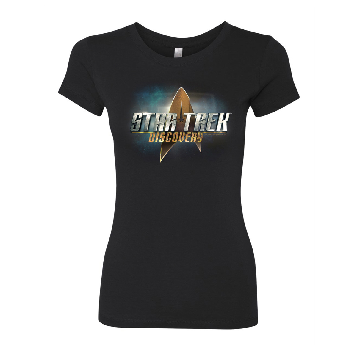 Star Trek Discovery Logo Women's Slim Fit T-Shirt