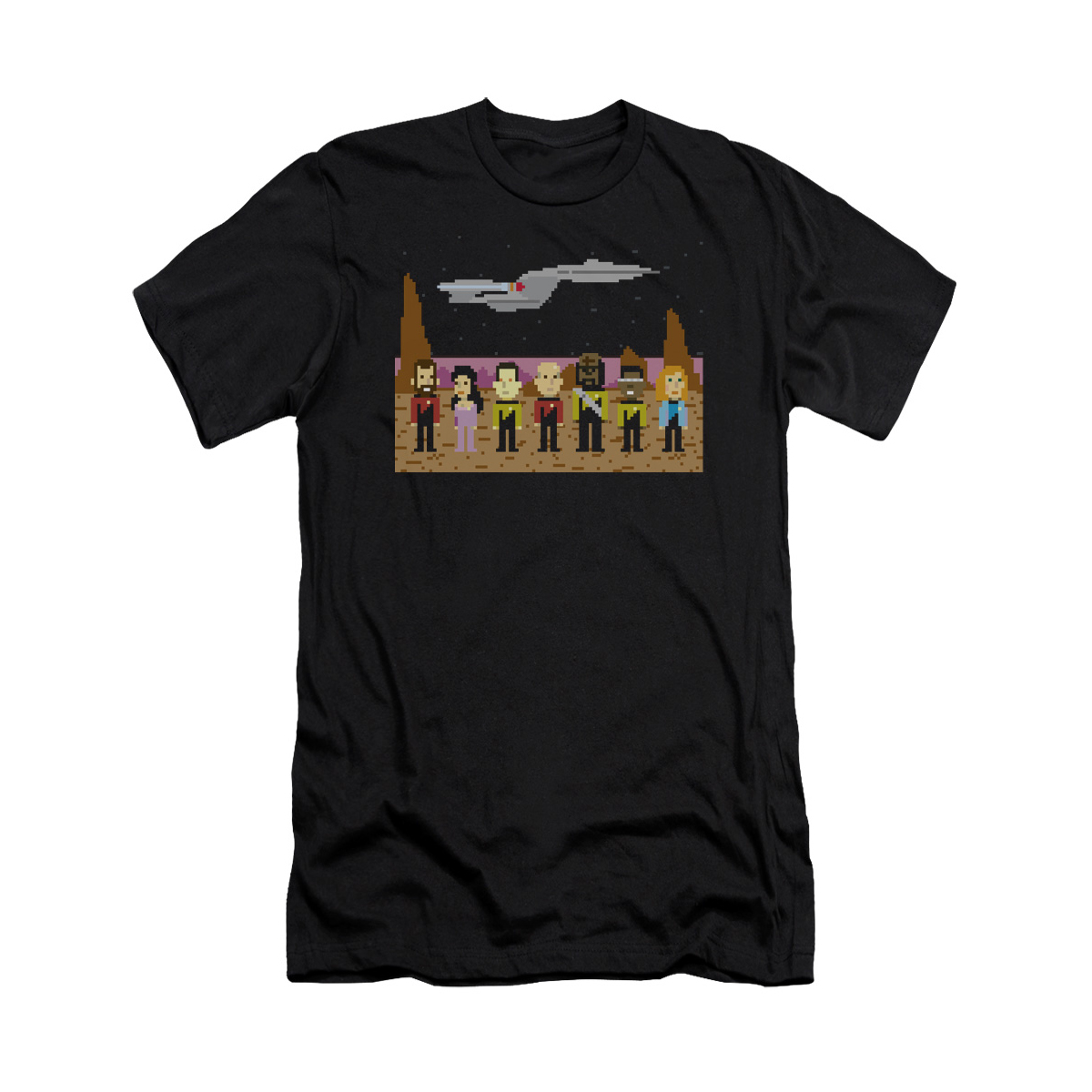 Star Trek The Next Generation Pixel T-Shirt