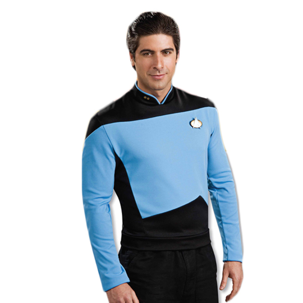 Star Trek The Next Generation Science Uniform Shirt Blue