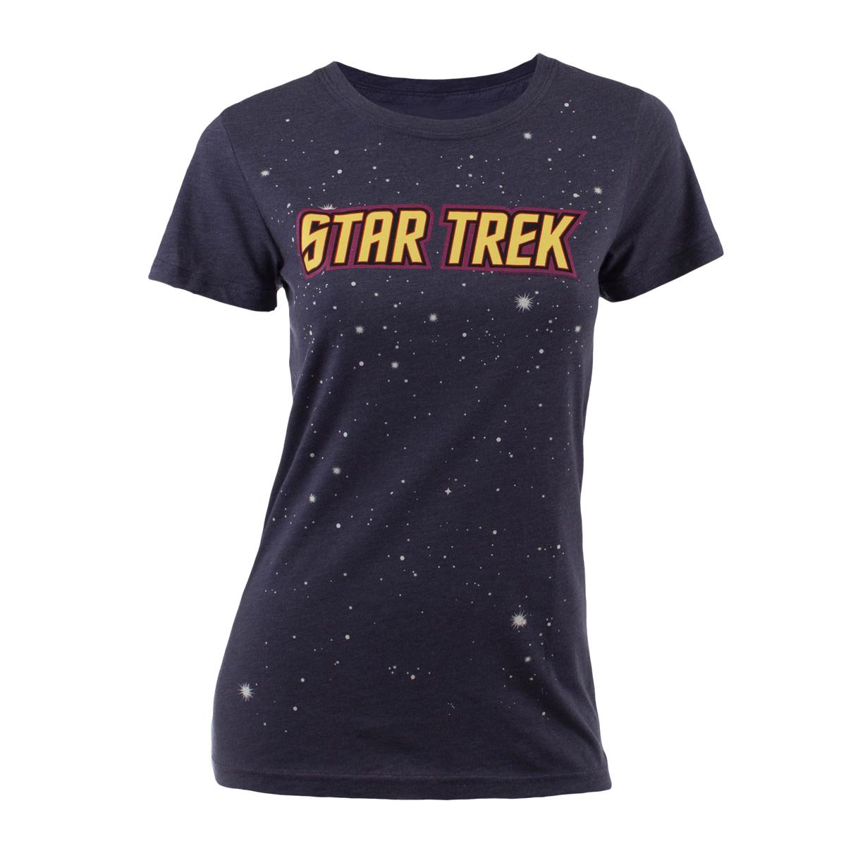 Star Trek Logo with Stars Women's Junior Fit T-Shirt