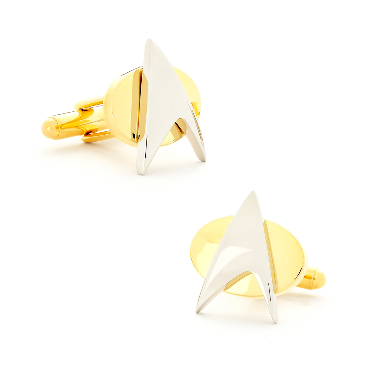 Star Trek Two Tone Star Trek Delta Shield Cufflinks