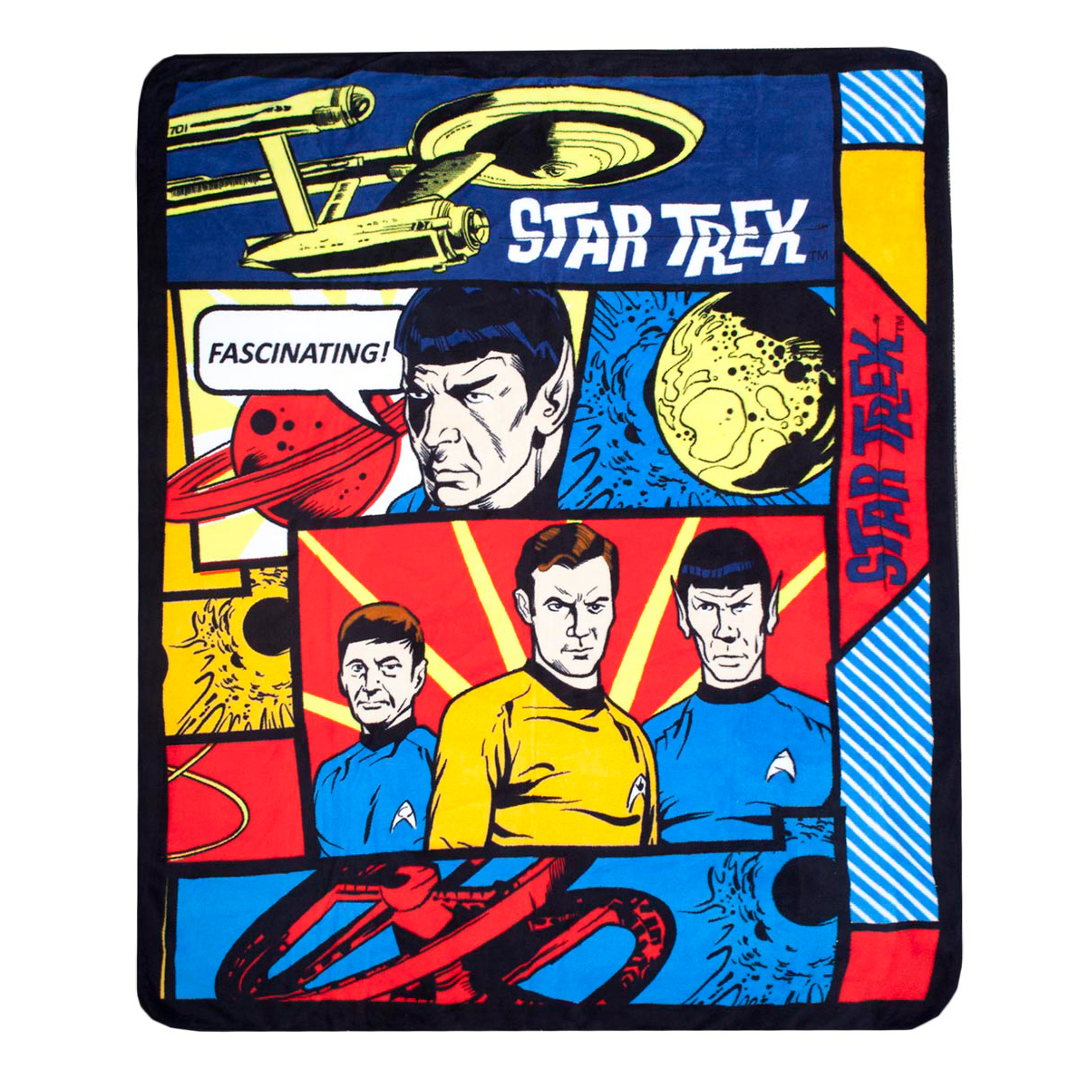 Star Trek The Original Series Comic Blanket