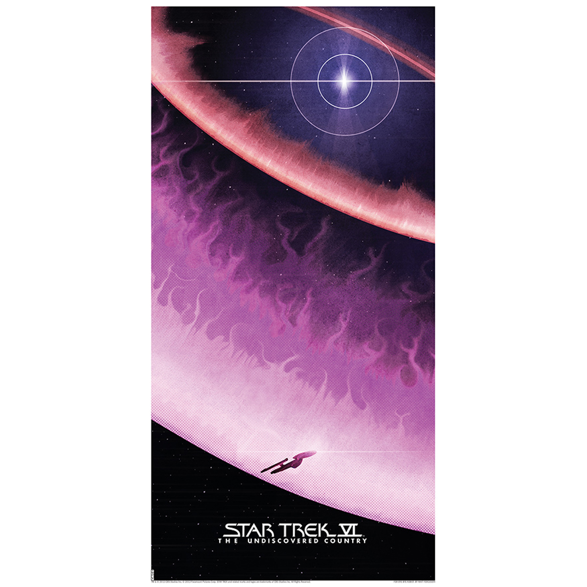 Star Trek VI: The Undiscovered Country Lithograph [12x24]