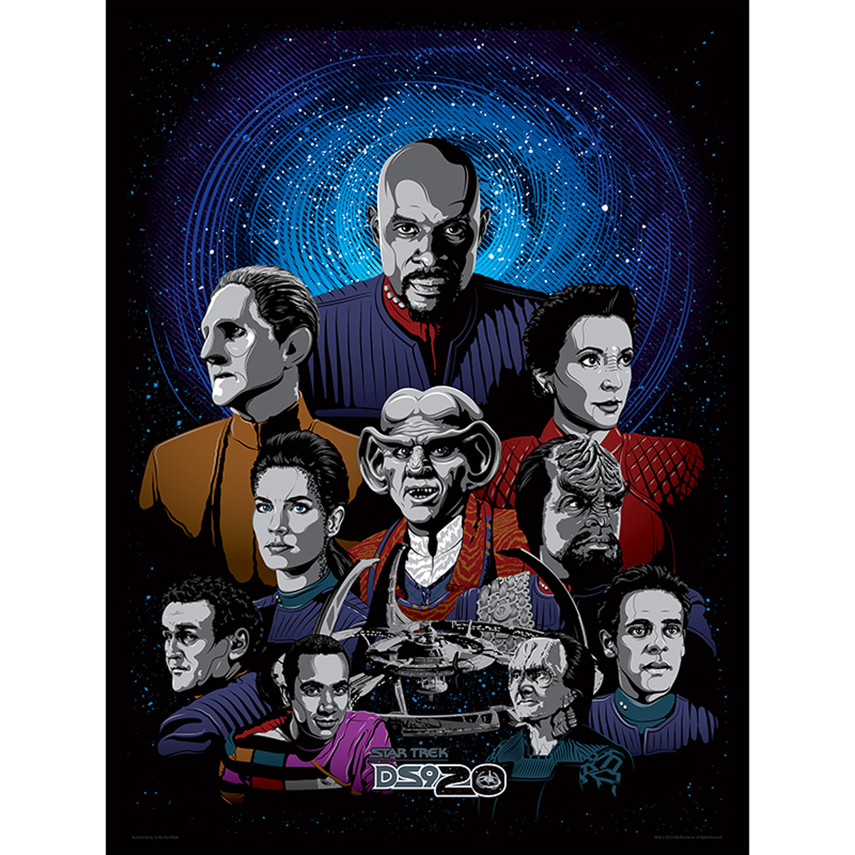 Star Trek Deep Space 9 Character Lithograph [18x24]