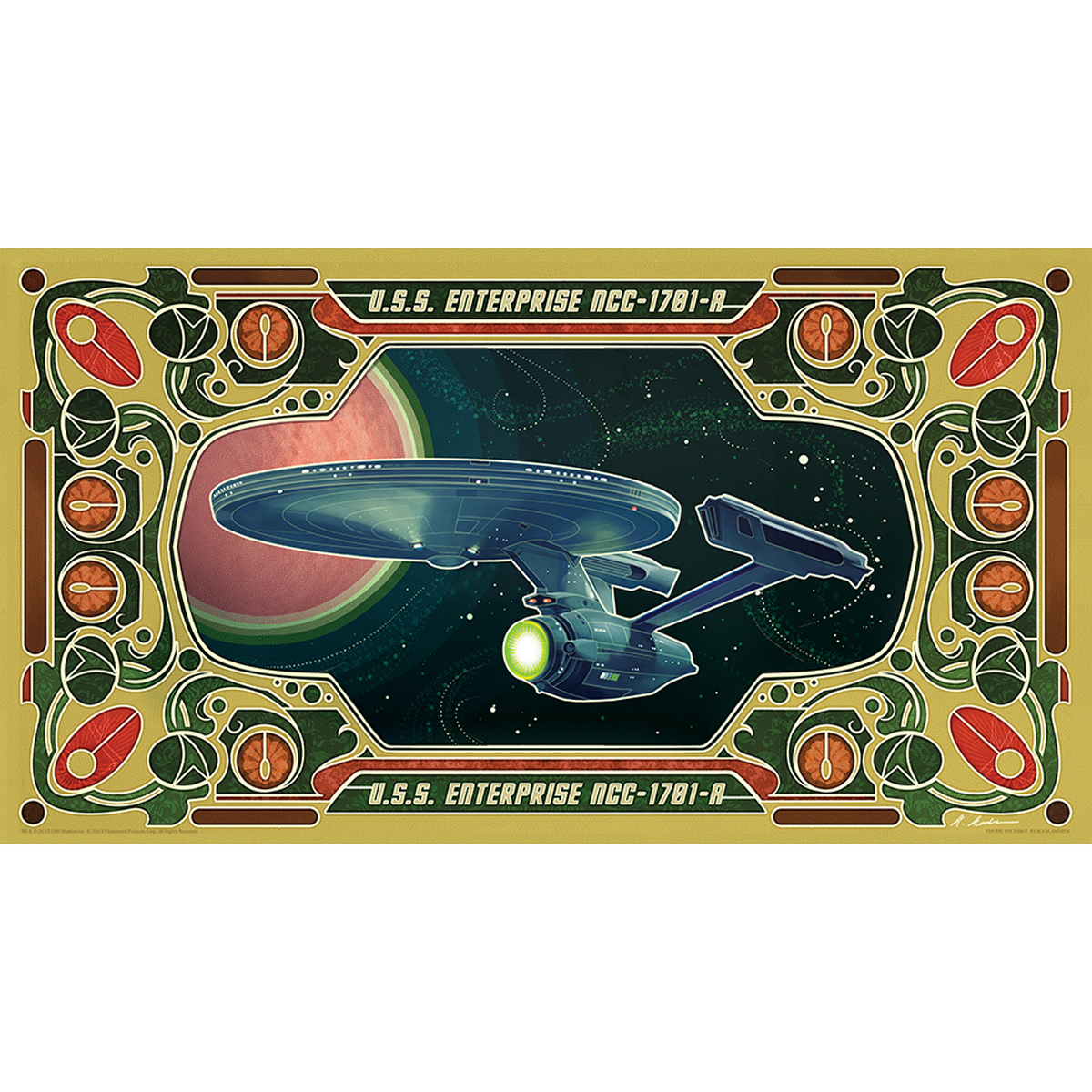 Star Trek Enterprise 1701-A Poster [13x24]