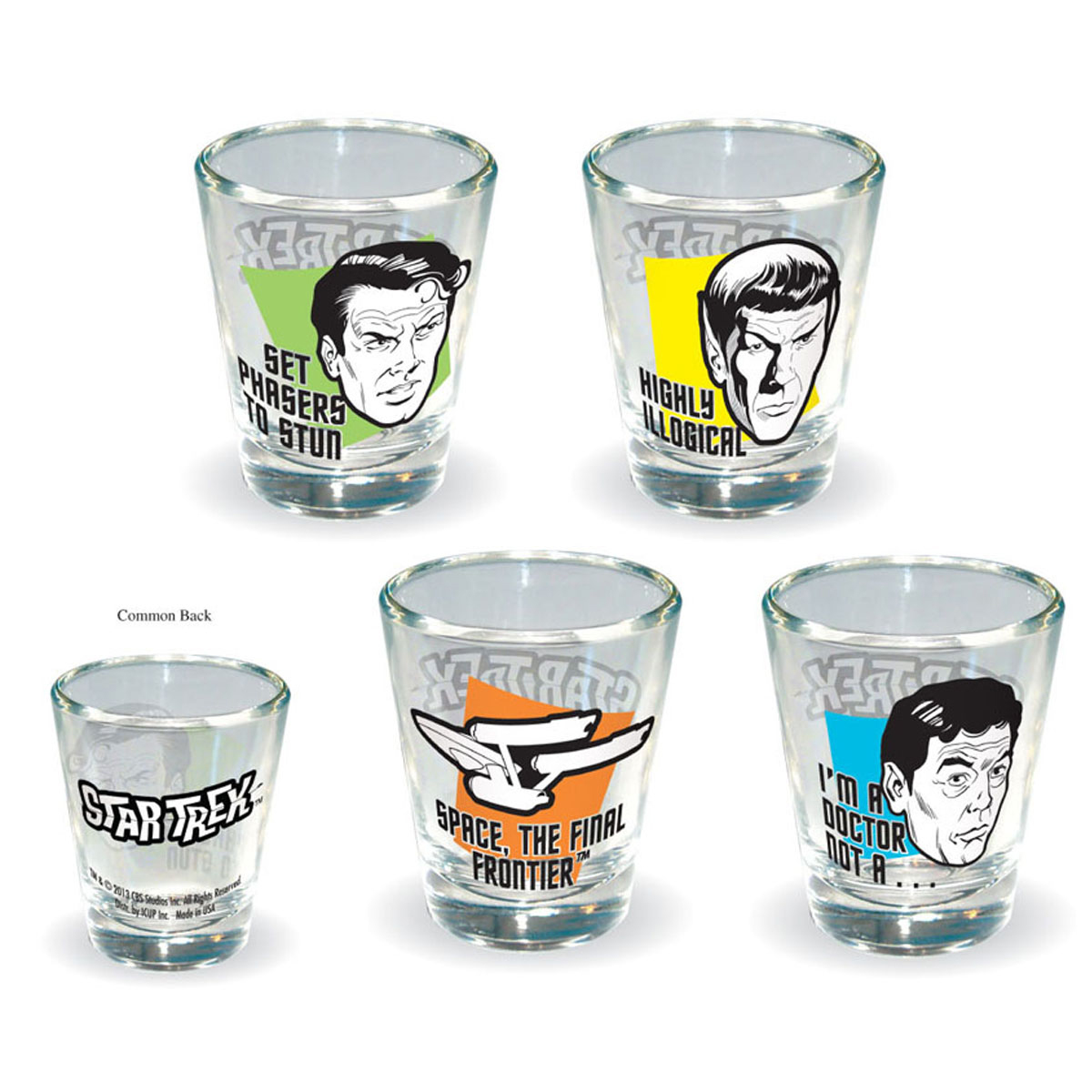 Star Trek Quotes Shot Glass Set of 4