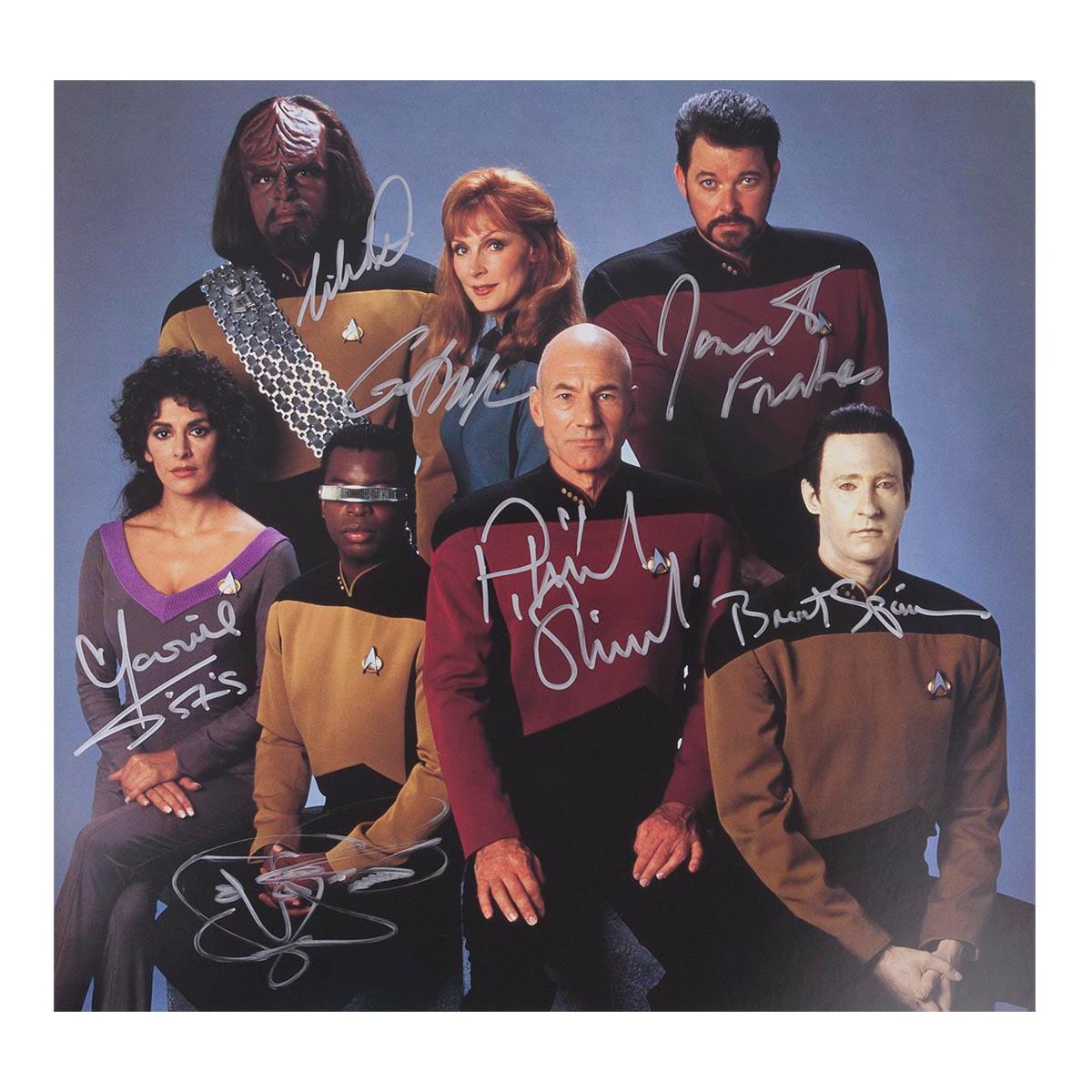 Star Trek The Next Generation Autographed Crew Photo [12x12]