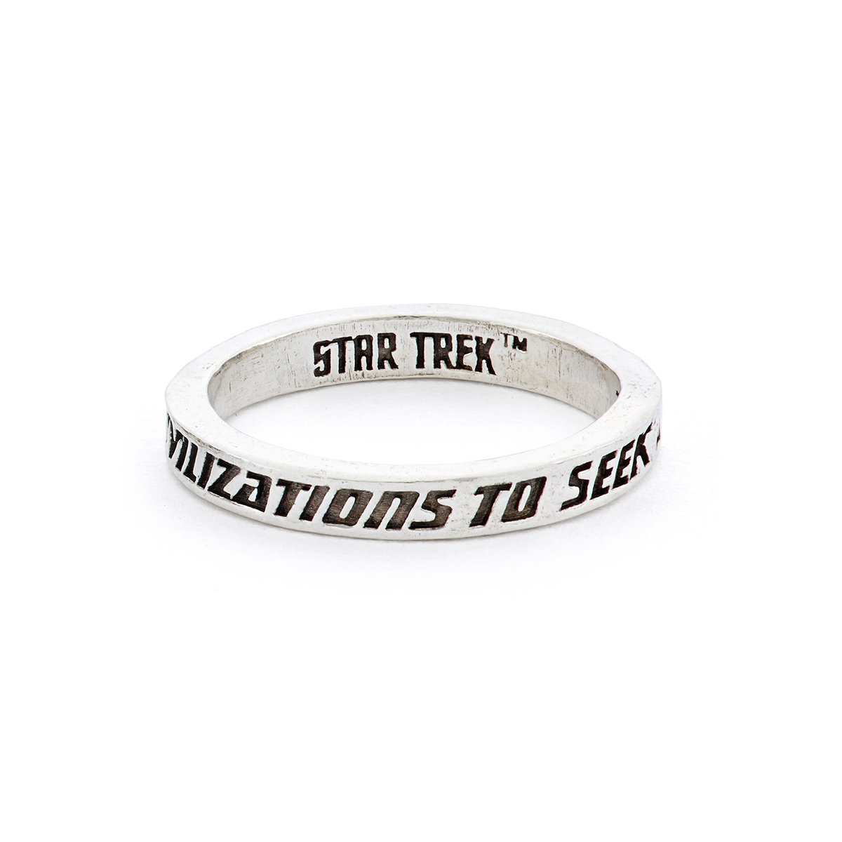 Star Trek x RockLove Sterling Intro Stacker Ring - To Seek