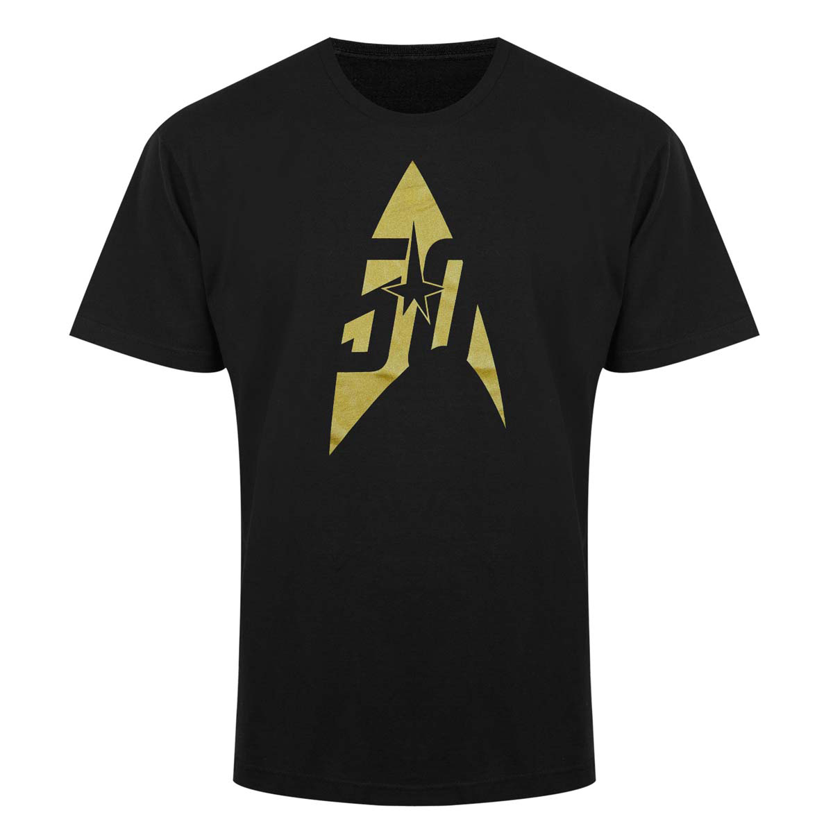 Star Trek 50th Anniversary Gold Delta T-Shirt [Black]