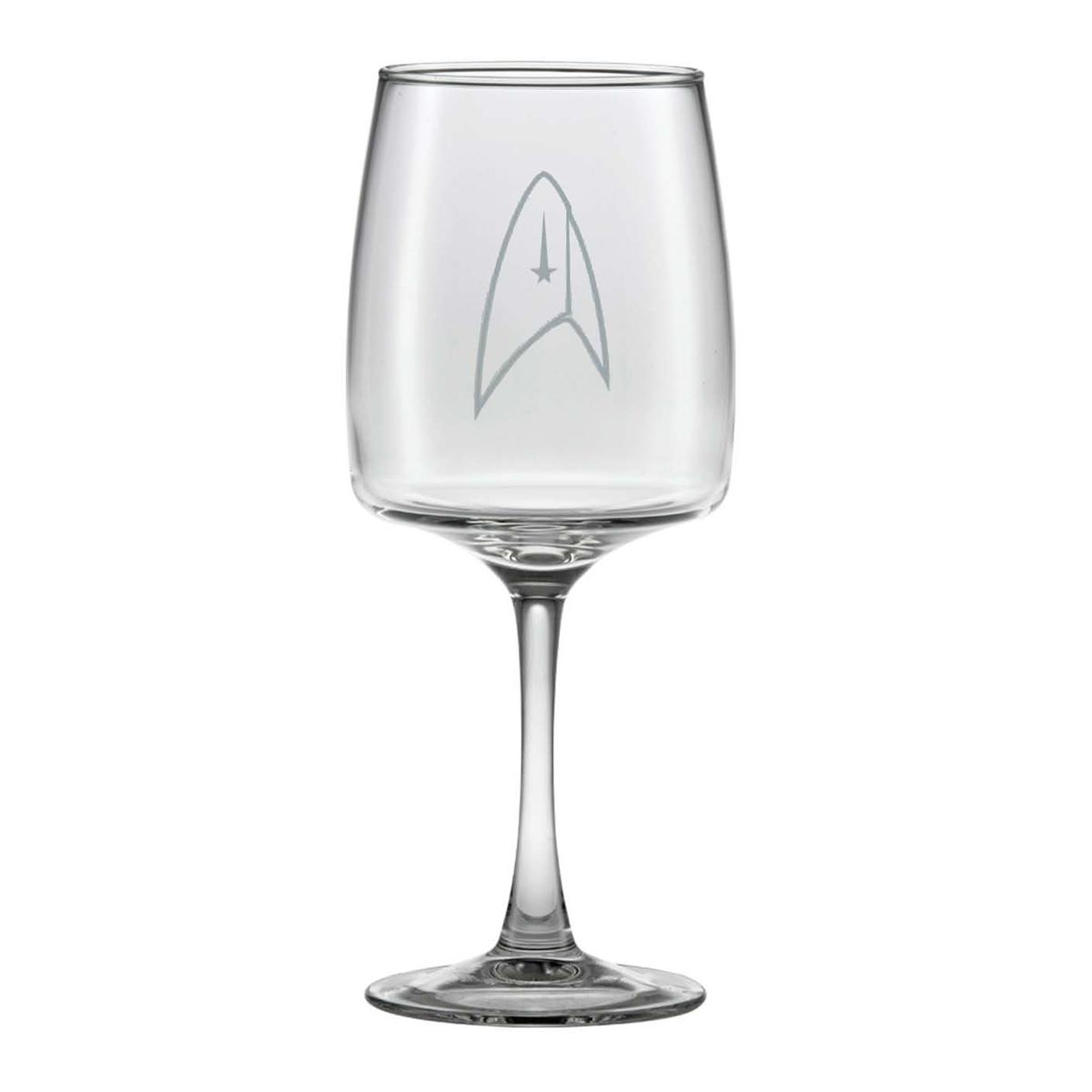 Star Trek Discovery Delta Wine Glass