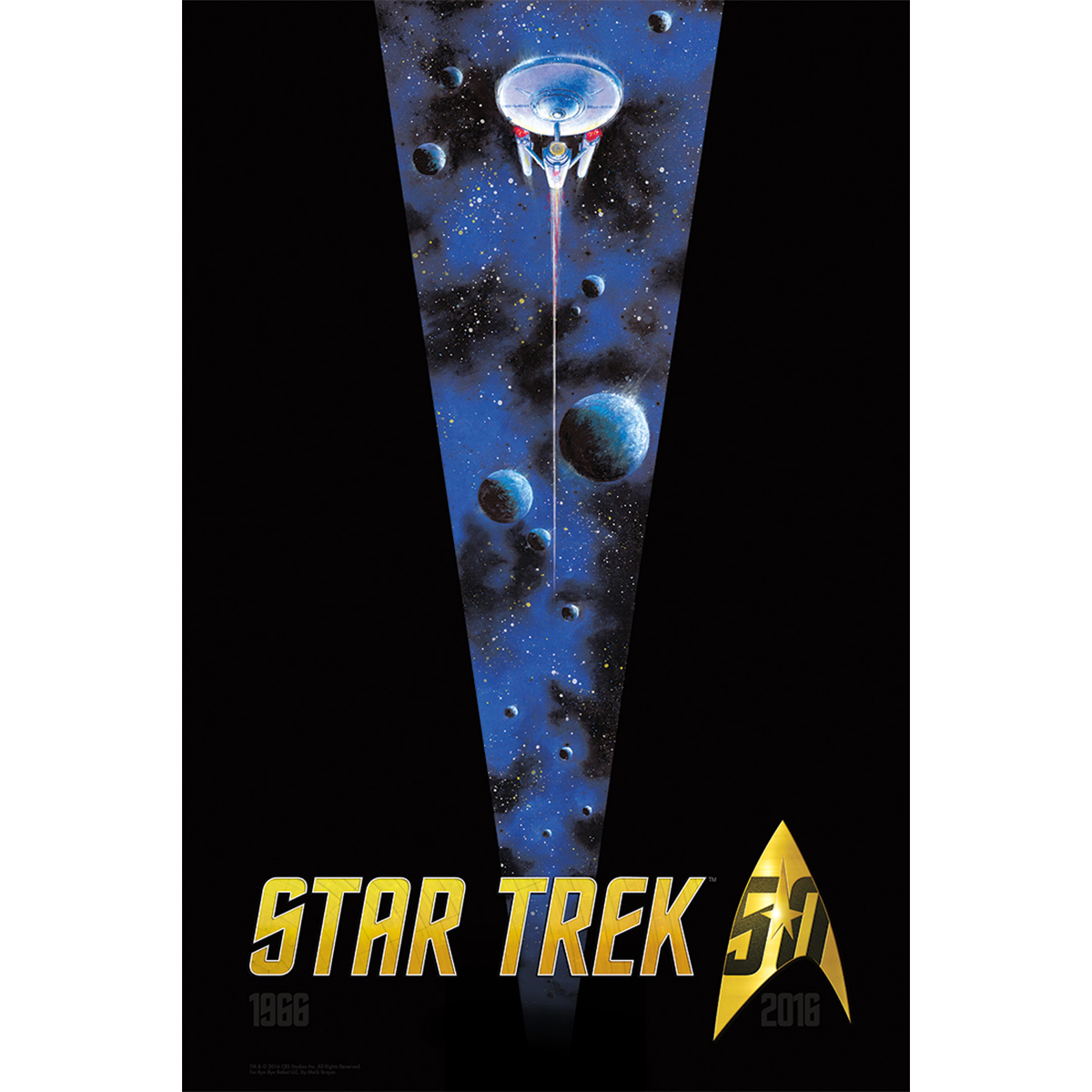 Star Trek 50th Anniversary Poster [16x18]