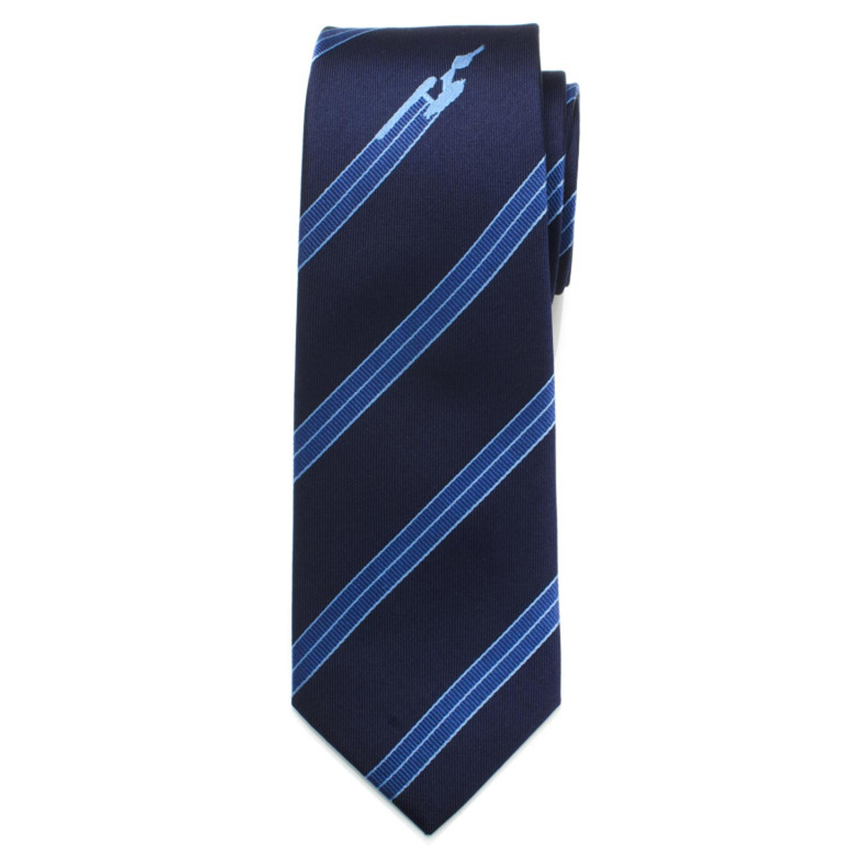 Star Trek Enterprise Flight Blue Stripe Men's Tie