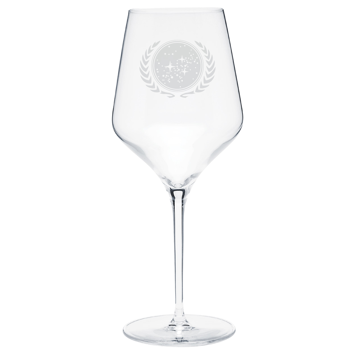 Star Trek United Federation of Planets Prism Wine Glass