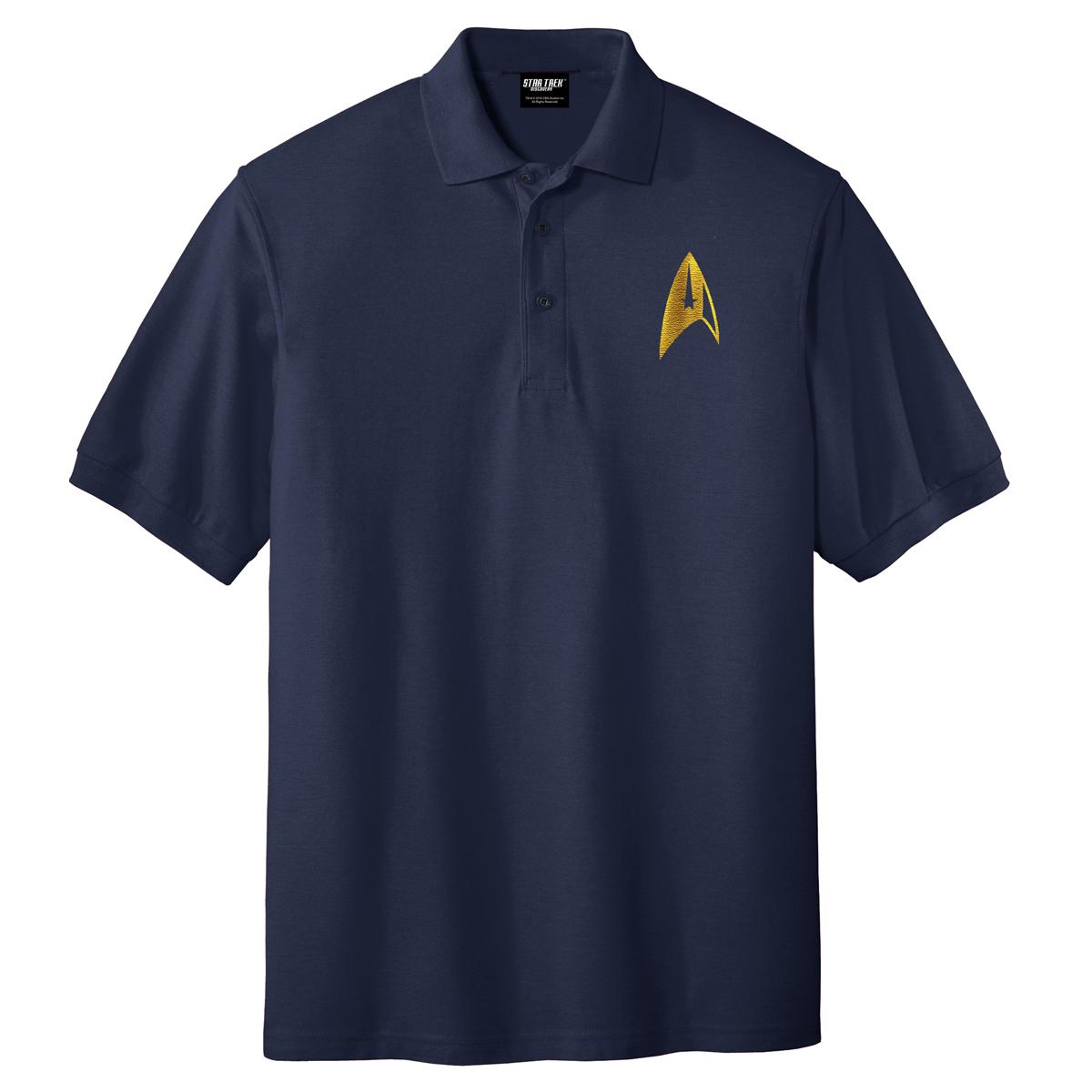 Star Trek Discovery Command Badge Polo