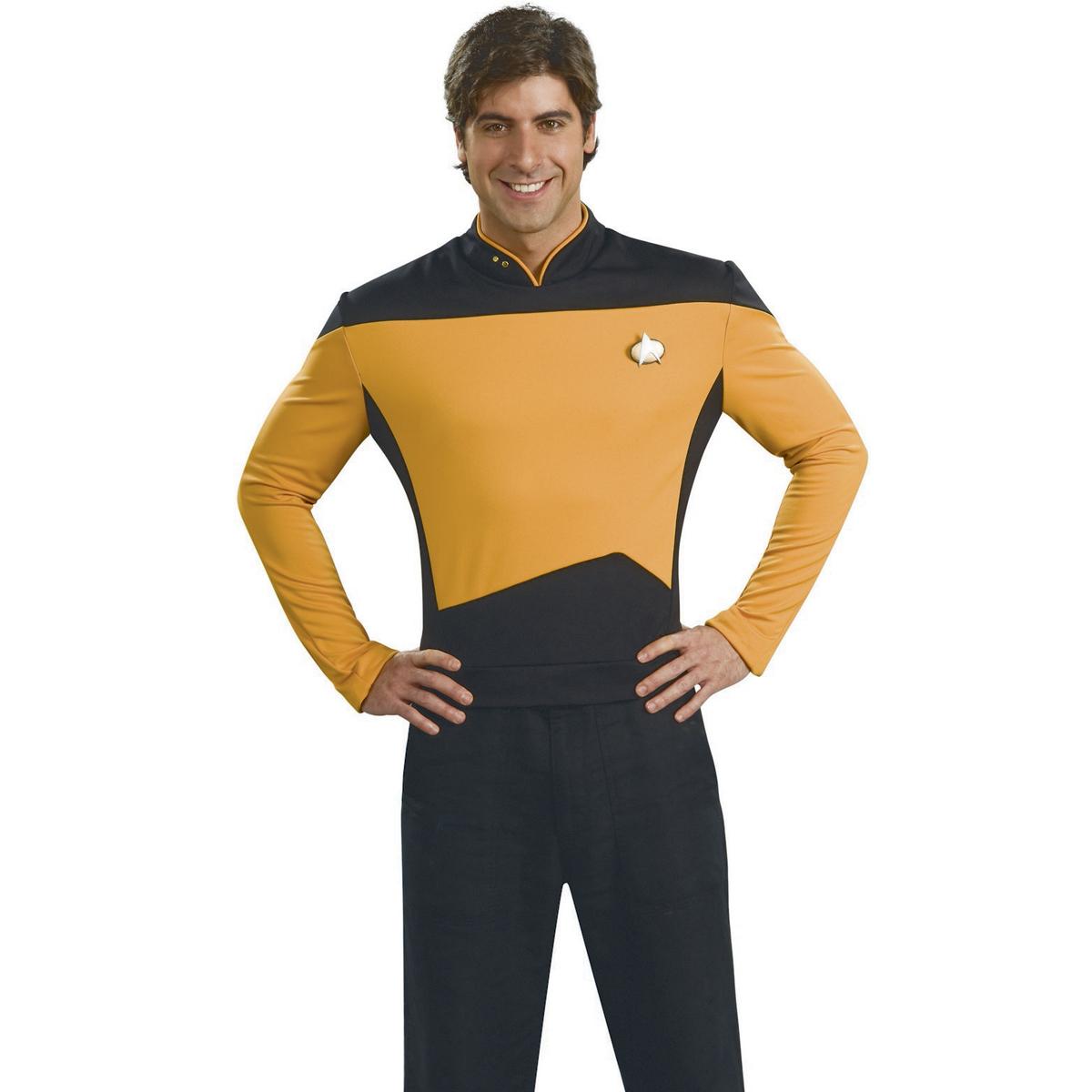 Star Trek Next Generation Operations Deluxe Gold Shirt