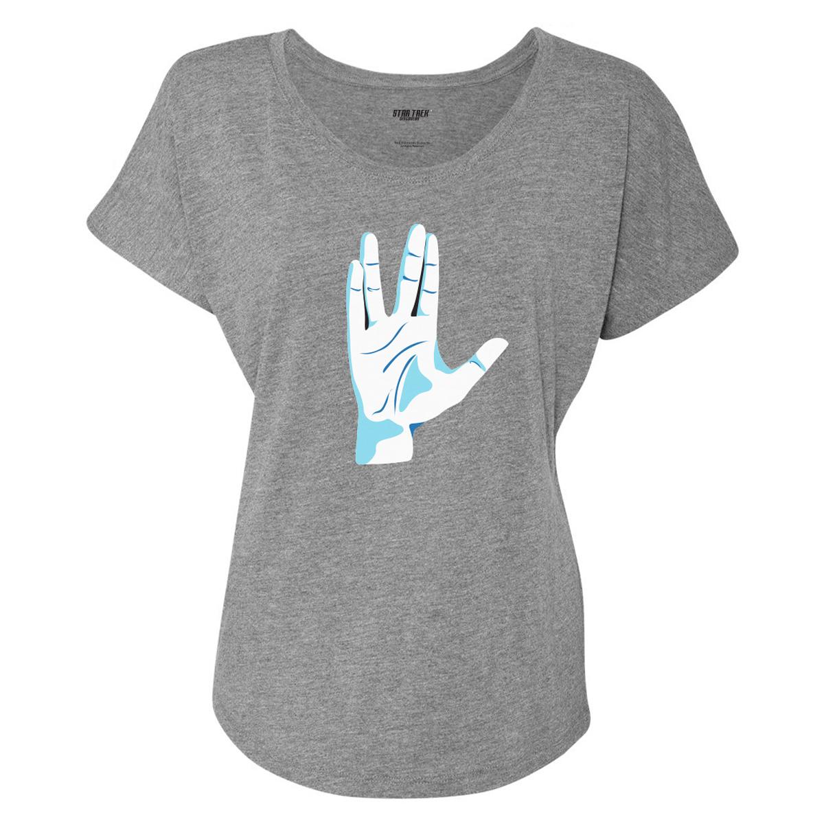 Star Trek Vulcan Salute Women's Dolman T-Shirt