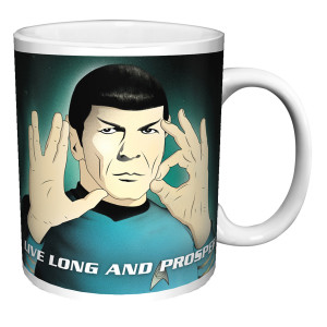 Star Trek Live Long and Prosper Vintage Mug