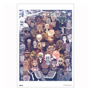Star Trek 50th Art Collection Fifty Aliens by Derek Charm Poster [13 x 9]