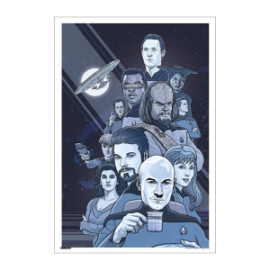 Star Trek 50th Art Collection Boldly Going by P.J. McQuade Poster [13 x 9]
