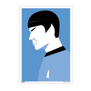 Star Trek 50th Art Collection Mr. Spock II By Ty Mattson Poster [13 x 9]
