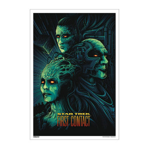 Star Trek 50th Art Collection First Contact by Dan Mumford Poster [13 x 9]