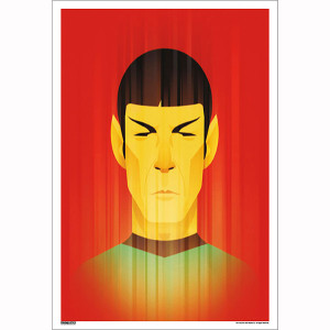 Star Trek 50th Art Collection Teleportation of Mr. Spock by Stanley Chow Poster [13 x 9]