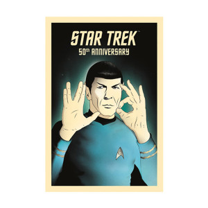 Star Trek 50th Art Collection 50 - Live Long and Prosper By Rocco Malatesta Poster [13 x 9]