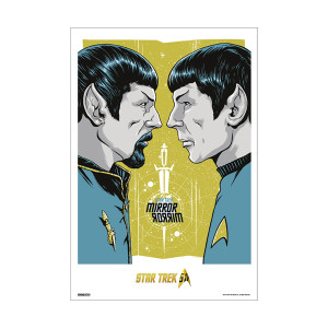 Star Trek 50th Art Collection Mirror Mirror by Gary Pullin Poster [13 x 9]