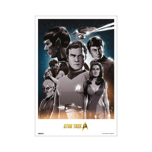 Star Trek 50th Art Collection What Are Little Girls Made Of by Mark Reihill Poster [13 x 9]