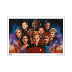 Star Trek 50th Art Collection The Final Frontier by Nicky Barkla Poster [13 x 9]