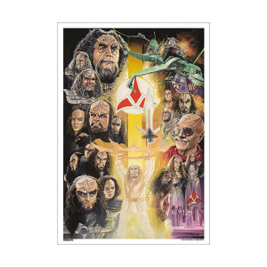 Star Trek 50th Art Collection Klingons by J.K. Woodward Poster [13 x 9]