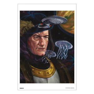Star Trek 50th Art Collection Encounter at Farpoint by Jonathan Bergeron Poster [13 x 9]
