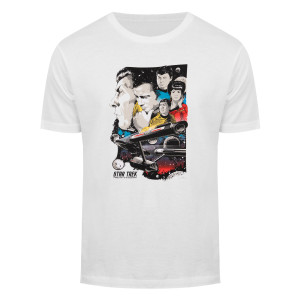 Star Trek 50th Art Collection To Boldly Go T-Shirt