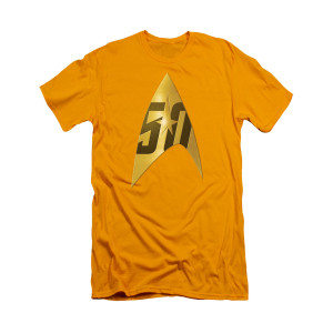 Star Trek 50th Delta Logo T-Shirt [Yellow]