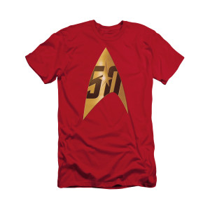 Star Trek 50th Delta Logo T-Shirt [Red]