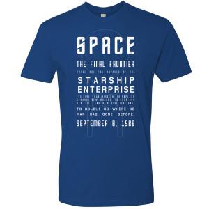 Star Trek Space, The Final Frontier T-Shirt